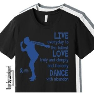Unisex Dance TEAM ARCROSS82 Blue Print Tee
